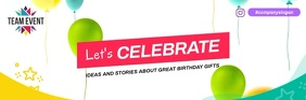 Vibrant Celebration Video Email Header template