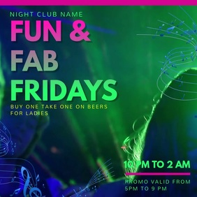 Vibrant Nightclub Rave Video Ad Template