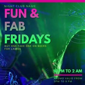 Vibrant Nightclub Rave Video Ad Template