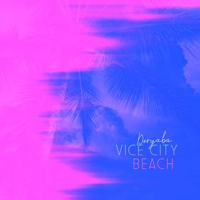 Vice City Beach Cd Cover Art Template