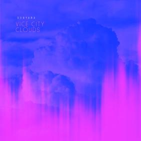 Vice City Clouds Cd Cover Art Template Pochette d'album