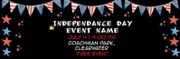 Video 4th of July Fireworks Email Header E-Mail-Überschrift template