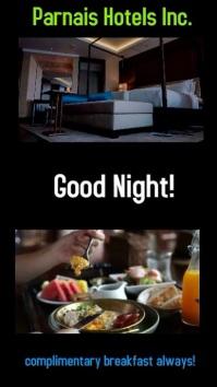 video ads/digital poster/hotel/bed breakfast Digitale Vertoning (9:16) template