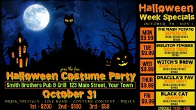 Video Bar Halloween Advertisement Digital Display (16:9) template