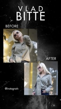 Video Before After Instagram Fashion Story template