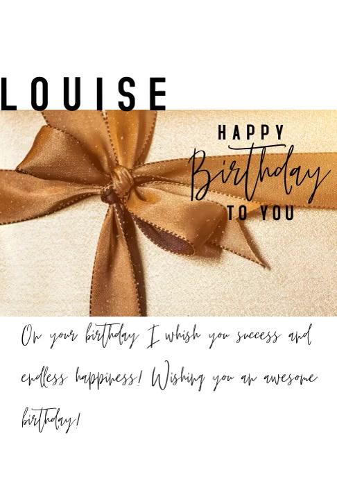 video birthday happy celebration A4 template