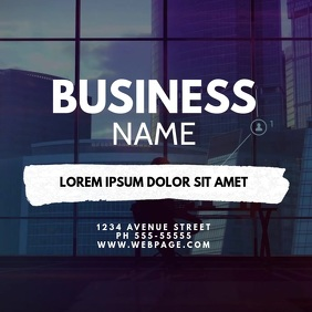 Video Business Service Card Design Template