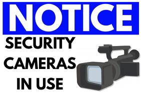 Video Camera Serveillance Poster Template