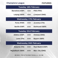 Video Champions League Fixtures Instagram template