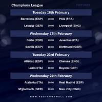 Video Champions League Fixtures Instagram Wpis na Instagrama template