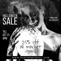 Video Clean Halloween Instagram Sale Banner template