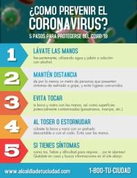 Video de Como prevenir el coronavirus volante Flyer (US Letter) template