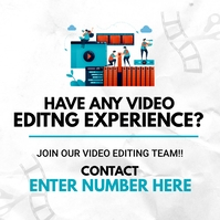 Video Editing Team Flyer template