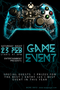 Video Game Event Flyer Template Plakkaat