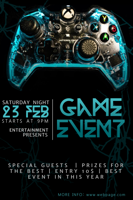 Video Game Event Flyer Template