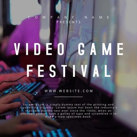 Video Game Festival - Motion Poster