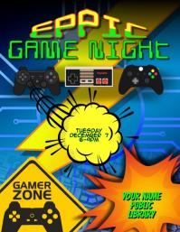 Video Game Gamer Gaming Night Flyer