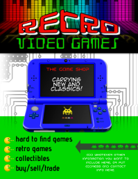 Video Game used video game retro store Flyer