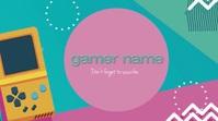 Video Gamer Gaming Logo Cover template