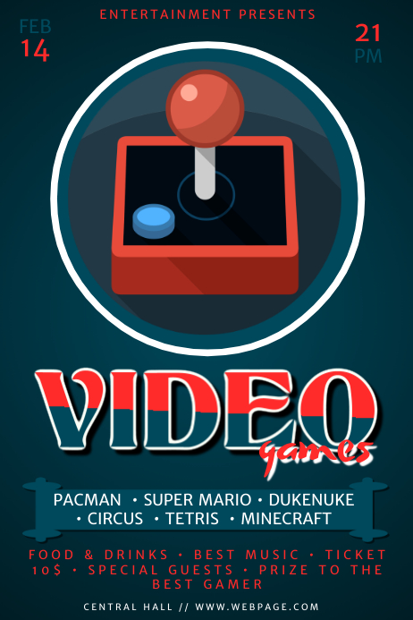 Video Games Flyer Template | PosterMyWall