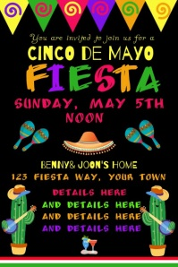 Video GIF Cinco de Mayo Invitation Poster template