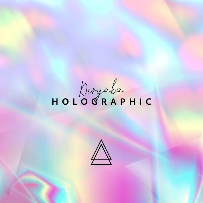 Video Holographic Music CD Cover Template Vierkant (1:1)