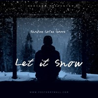 Video Instagram Let It Snow CD Cover Vierkant (1:1) template