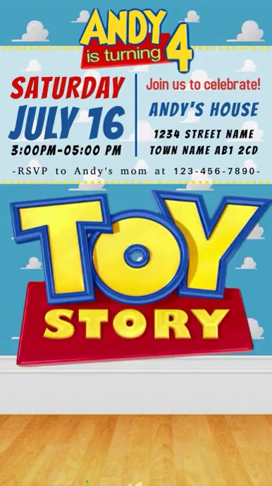 Video Invite Toy Story 4 Party Forky With Sound 18