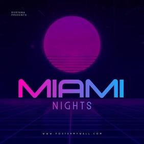 Video Miami Nights Retro CD Cover Template