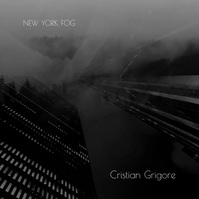 Video New York Dark Black and White CD Cover Carré (1:1) template
