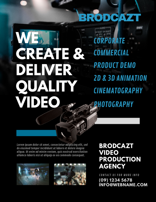 video production agency flyer template