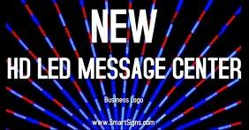 Video Sign Company Advertisement delt Facebook-billede template