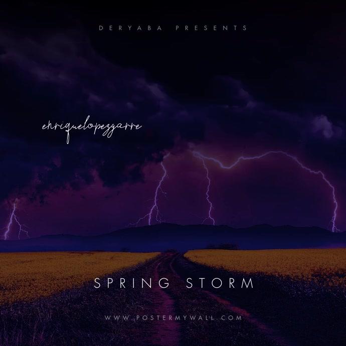 Video Spring Storm Dark Mixtape CD Cover Cuadrado (1:1) template