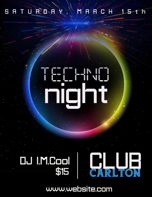 Video Techno Club Flyer