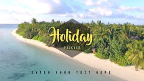 Video Template Holiday Summer Beach Pantalla Digital (16:9)