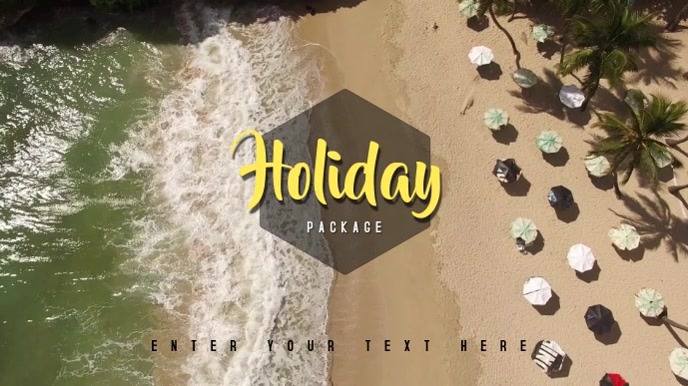 Video Template Holiday Summer Beach Digitalt display (16:9)