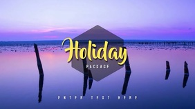 Video Template Holiday Summer Digitalanzeige (16:9)