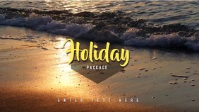 Video Template Holiday Summer Tampilan Digital (16:9)