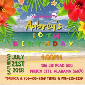 Video Tropical Birthday