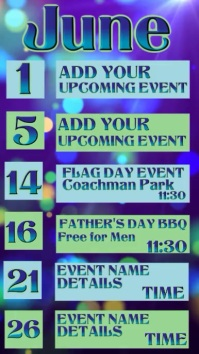 Video Upcoming Events Calendar