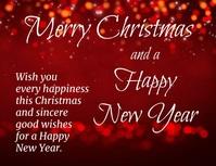 video volante Feliz Navidad y Año Nuevo Pamflet (VSA Brief) template