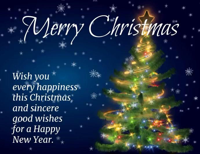 video volante Feliz Navidad y Año Nuevo Flyer (US-Letter) template