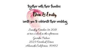 video wedding invitation