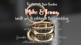 Customizable design templates for video invitation wedding video wedding invitation stopboris Choice Image