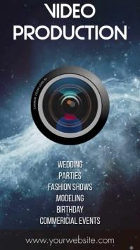 Videographer & Video Agency Promotion Pantalla Digital (9:16) template