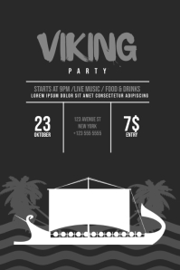 Viking Party Flyer Template