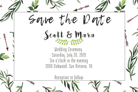 Vine Save the Date Invite