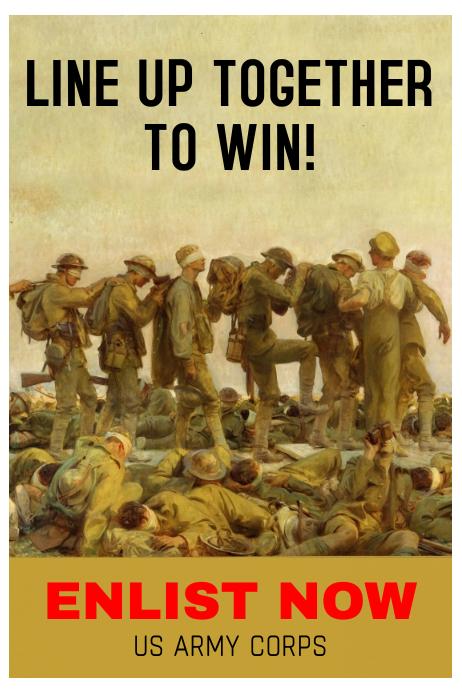 Vintage Army Enlist Poster