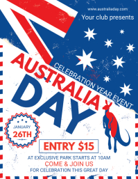 Vintage Australia Day Flyer Template
