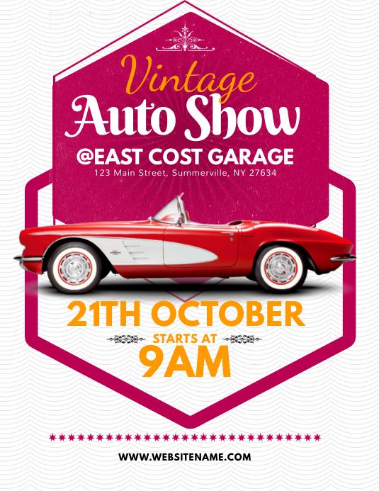 Vintage Auto Show Flyer